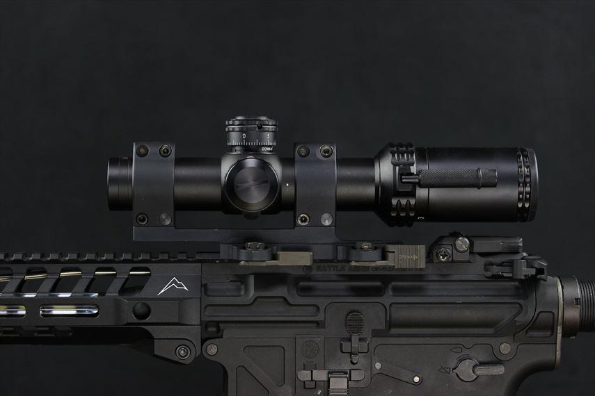 Bushnell AR OPTICS 1-4x 24mm Throw Down PCL 装着画像