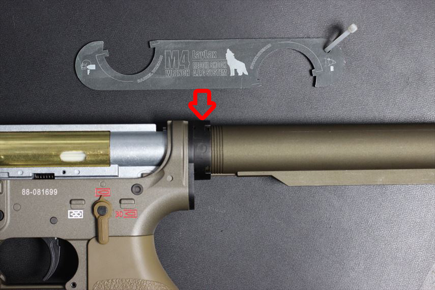 東京マルイ 次世代HK416デルタカスタム バッファーリング部分