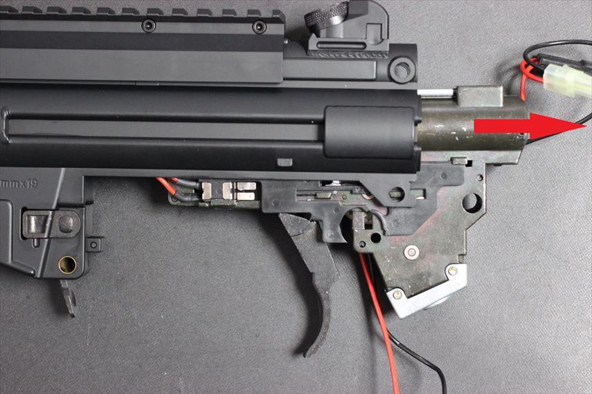 東京マルイ MP5K HC Magnusチューン メカボをスライドさせる