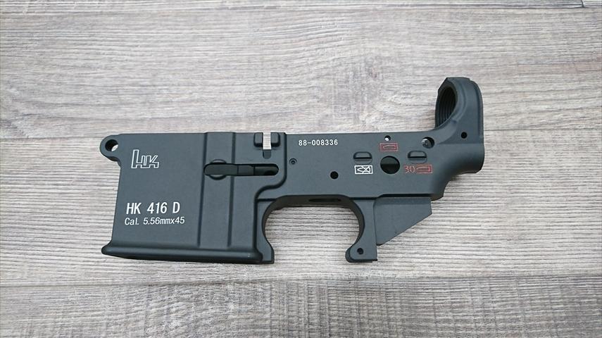 HK416Dロアレシーバー右面