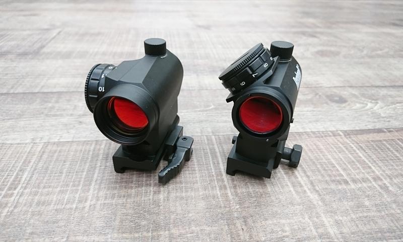 【ドットサイト比較】「NOVEL ARMS COMBAT AIM T1」vs「Bushnell TRS-25」