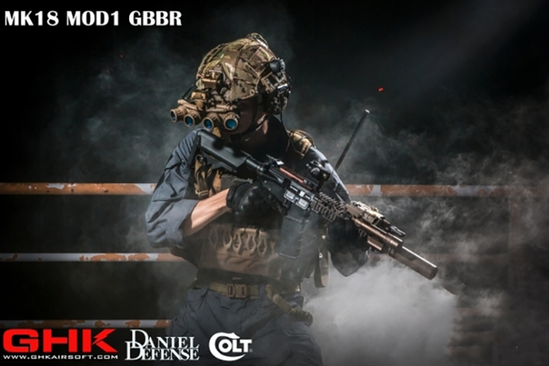GHKからMK18 Mod1のガスブローバックが登場!
